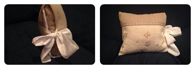 piccolo cuscino con granda fiocco